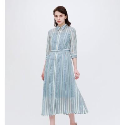 【ラブレス/LOVELESS】 【otona MUSE掲載商品】シアーストライプ ドレス