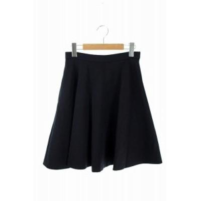 【中古】ドゥーズィエムクラス DEUXIEME CLASSE スカート 膝丈 フレア 36 黒 /MY レディース