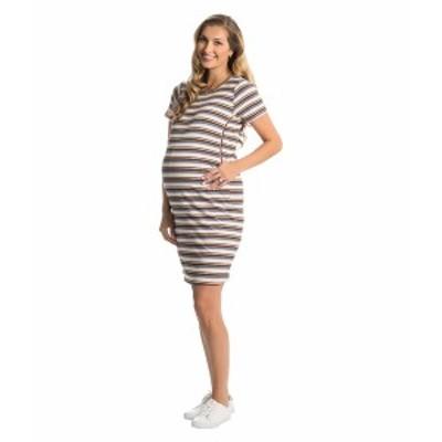 エベリーグレイ レディース ワンピース トップス Aluisa Maternity/Nursing Dress Lavender Stripe