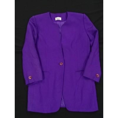 ジャケット 80年代 鮮やかパープル 紫 バブリー 肩パット Gagelin