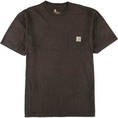 カーハート Carhartt 半袖 ワンポイントロゴポケットTシャツ メンズL /eaa153031