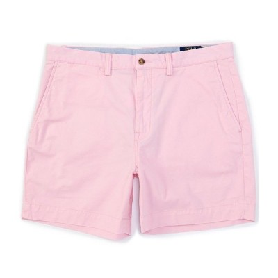 ラルフローレン メンズ ハーフ&ショーツ ボトムス Classic-Fit Stretch Chino 6#double; Inseam Shorts Carmel Pink