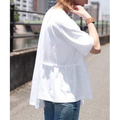 【レカ】 アシンメトリーデザインTシャツ(bel-blc-4883) レディース ホワイト FREE reca