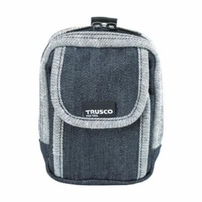 トラスコ(TRUSCO) デニム携帯電話用ケース2ポケットブラック 10 x 145 x 210 mm TDC-H102 1点