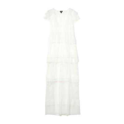 ジャストカヴァリ JUST CAVALLI ロングワンピース&ドレス ホワイト 36 ポリエステル 100% ロングワンピース&ドレス