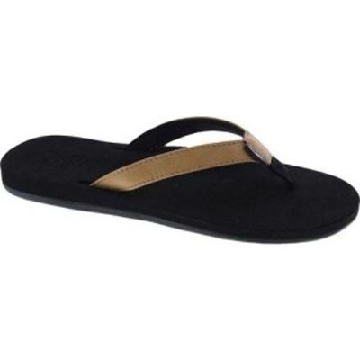 スコットハワイ Scott Hawaii レディース ビーチサンダル シューズ・靴 Mali Flip Flop Black/Gold Synthetic Leather