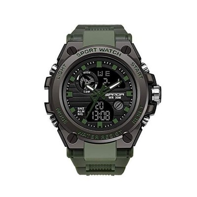 RORIOS watch 腕時計 メンズ ビジネス 防水 デジタル表示 カレンダー 夜光 樹脂ストラップ 多機能 耐衝撃性 日本製