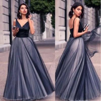 パーティードレス 結婚式 二次会 お呼ばれ ワンピース ノースリーブ お呼ばれドレス ドレス 20代 30代 40代 マキシ チュールスカート