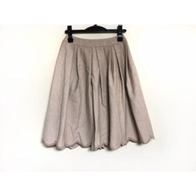 トゥービーシック TO BE CHIC スカート サイズ38 M レディース ベージュ ビーズ【中古】20201124