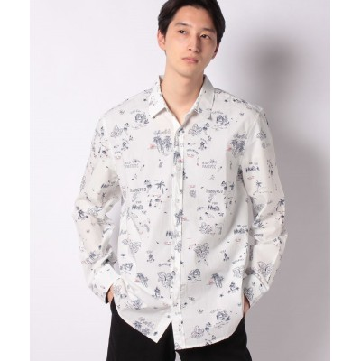 【デシグアル】 シャツ長袖 EZRA メンズ ホワイト系 M Desigual