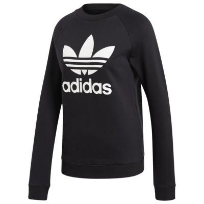 アディダス adidas Originals レディース トップス Adicolor Trefoil Crew Black/White