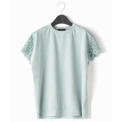 COMME CA / コムサ レースパーツ Tシャツ