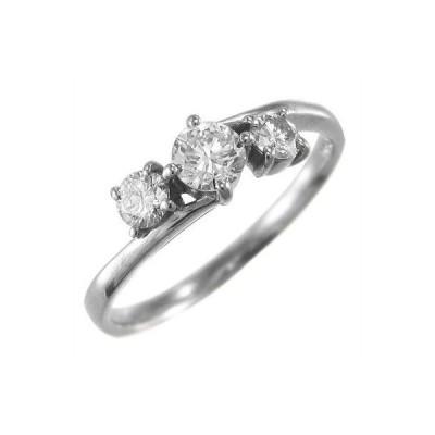 10kホワイトゴールド リング オーダーメイド 結婚指輪 にも 一粒石 ダイアモンド 4月誕生石