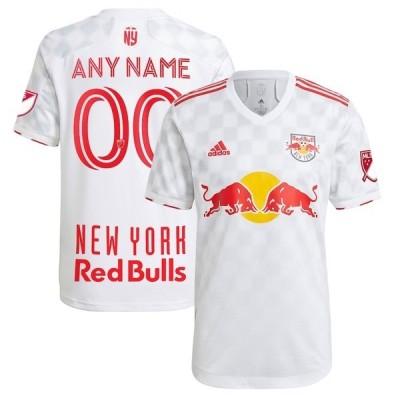 アディダス メンズ Tシャツ トップス New York Red Bulls adidas 2021 1Beat Authentic Custom Jersey