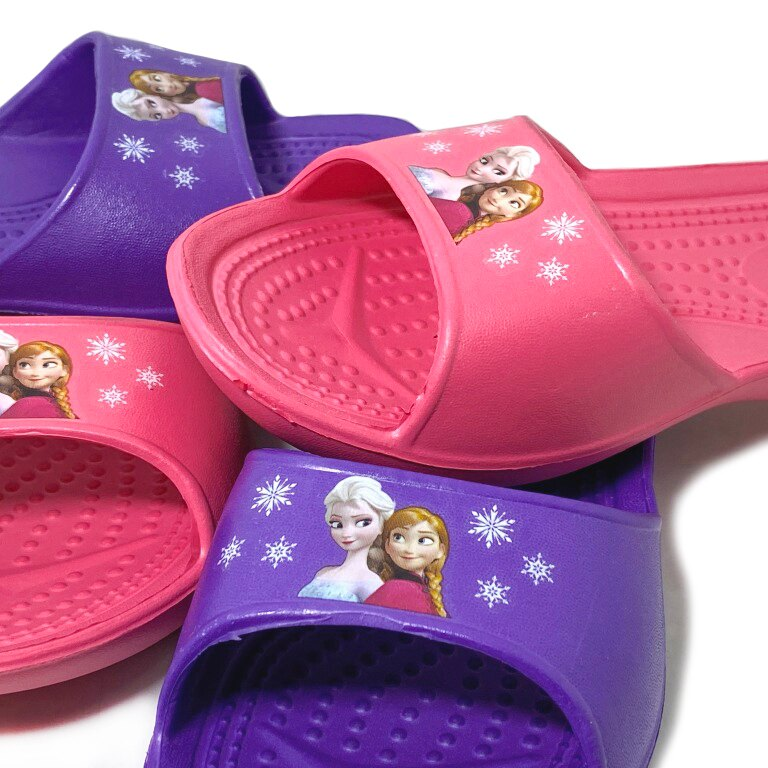 迪士尼 FROZEN 冰雪奇緣 童款防水室內拖鞋 [FR608] 桃 紫【巷子屋】
