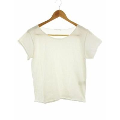 【中古】バイオレットルーム VIOLETTE ROOM Tシャツ カットソー 半袖 無地 S 白 ホワイト /CK レディース