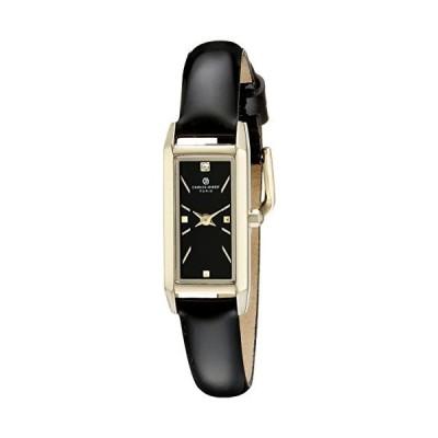 Ladies Charles Hubert Stainless Steel Black Dial Watch