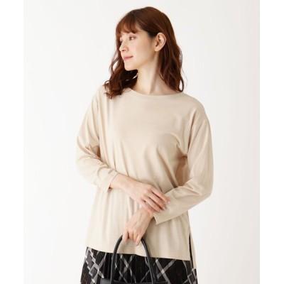 SHOO・LA・RUE / 【M-L/洗濯機で洗えて毛玉になりにくい】コットンロングTシャツ WOMEN トップス > Tシャツ/カットソー