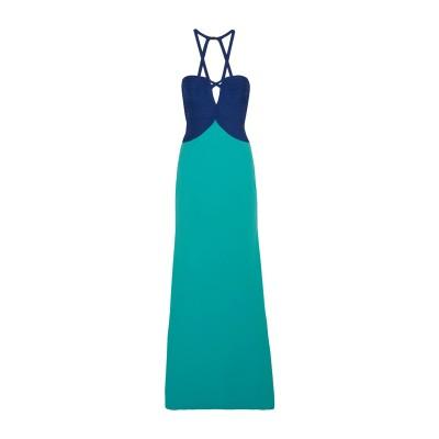 エルベ レジェ バイ マックス アズリア HERVÉ LÉGER ロングワンピース&ドレス ブルー S レーヨン 90% / ナイロン 9% / ポ