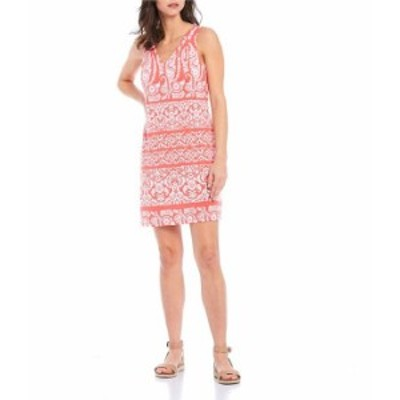 トッミーバハマ レディース ワンピース トップス Paisley Palace V-Neck Sleeveless Stretch Short Dress Tutti Frutti