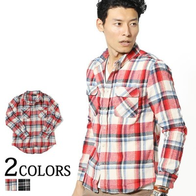 シャツ メンズ トップス チェック フランネルシャツ 長袖 カジュアルシャツ