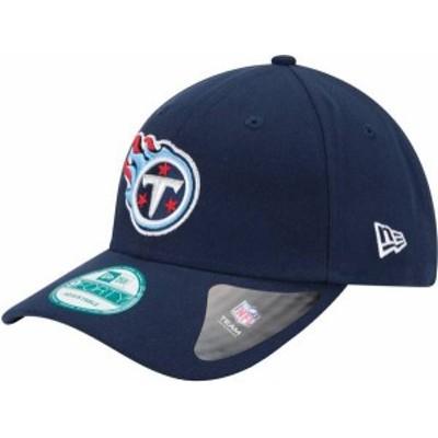 ニューエラ メンズ 帽子 アクセサリー New Era Men's Tennessee Titans League 9Forty Adjustable Navy Hat