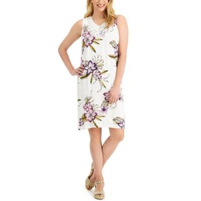 ジェイエムコレクション レディース ワンピース トップス Tropica Floral-Print Shift Dress