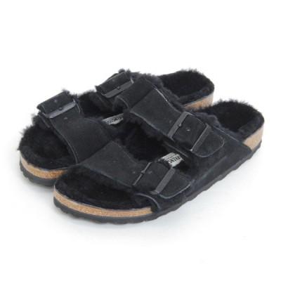 BIRKENSTOCK(ビルケンシュトック)Arizona Fur(アリゾナファー) Black 定番モデルArizonaのライニングにふわふわウールを配したファーサンダル。