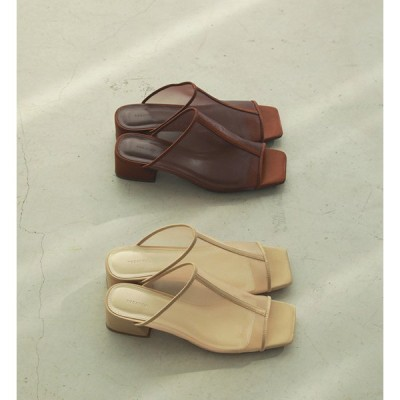【SALE 愛知取扱店】TODAYFUL(トゥデイフル)Sheer Piping Sandals シアーサンダル