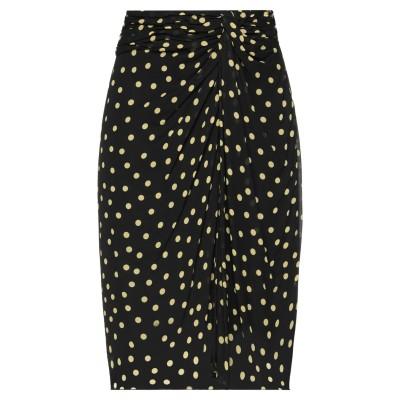 GOLD CASE ミディスカート ブラック 40 レーヨン 100% ミディスカート