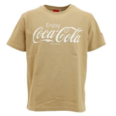 コカコーラウェアロゴプリントTシャツ 0530115-35 BEI 半袖ベージュ