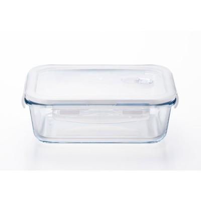 アデリア 密封 保存容器 クックロック レクタングル1000WT クリア 1000ml レンジ対応 耐熱ガラス製