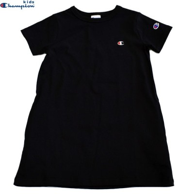 子供服 ワンピース チュニック チャンピオン キッズ ベーシック チュニックワンピース ブラック CK-T305