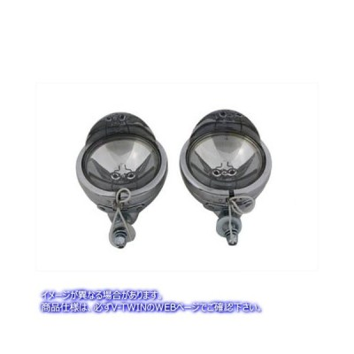 【取寄せ】4-1/2  Spotlamp Set with Visor V-Twin V-TWIN 品番 33-0017  (参考品番: )  Vツイン アメリカ USA