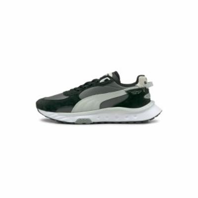 プーマ Puma メンズ スニーカー シューズ・靴 Wild Rider trainers in black and grey ブラック/グレー