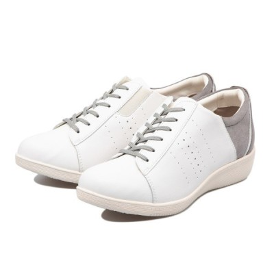 TEXCY テクシー LACE-UP CASUAL SNEAKER レースアップ カジュアル スニーカー TL-17340 WHITE GRAY