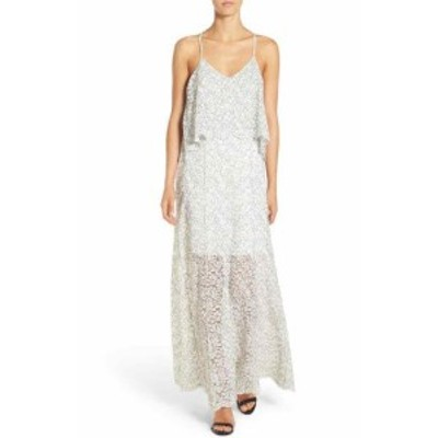 Willow & Clay ウィロー&クレイ ファッション ドレス Willow & Clay Womens Dress White Size Medium M Floral Lace Maxi