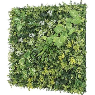 連結グリーン 壁取り付け 90角 人工観葉植物 フェイクグリーン GR1146