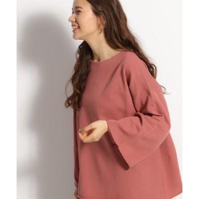 tシャツ Tシャツ 袖ロールアップフレアプルオーバー