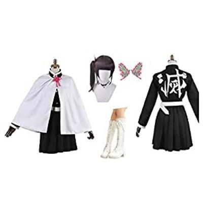 HALLE コスプレ衣装 コスチューム カナヲ風衣装セット+ウィッグ+髪飾り+(中古品)