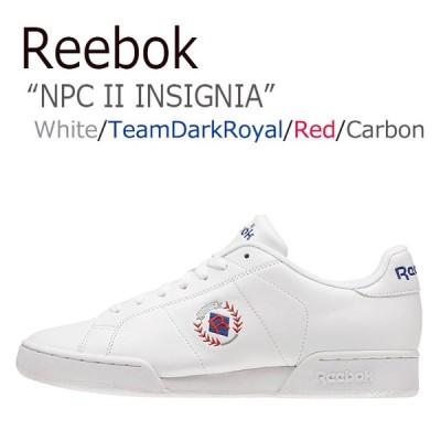 リーボック スニーカー Reebok メンズ レディース NPC II INSIGNIA インシグニア White Blue ホワイト ブルー BD3246 シューズ
