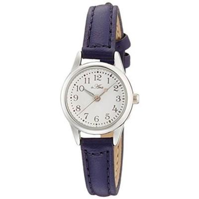 [フィールドワーク] 腕時計 フィールドワーク アナログ 小丸レザー 革ベルト FSC026-G レディース ネイビー