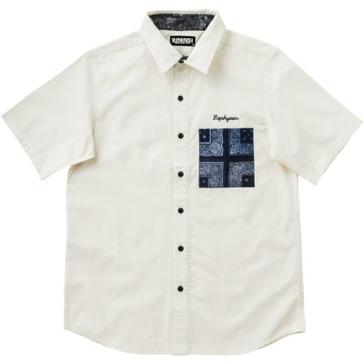 Zephyren(ゼファレン) PAISLEY POCKET SHIRT S/S - Resolve -
