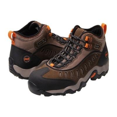 ティンバーランド ブーツ&レインブーツ シューズ メンズ Mudslinger Mid Waterproof Steel Toe Brown Nubuck Leather