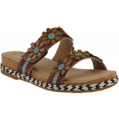 スプリングステップ L'Artiste by Spring Step レディース サンダル・ミュール シューズ・靴 Resort Slide Brown Leather