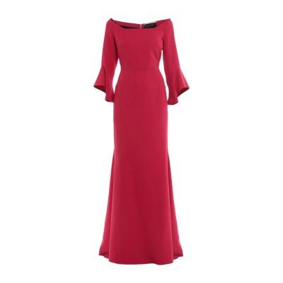ローラン ムレ ROLAND MOURET ロングワンピース&ドレス レッド 8 レーヨン 50% / アセテート 47% / ポリウレタン 3%