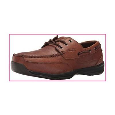 Rockport Mens Dark Brown Leather Boat Shoes Sailing Club Steel Toe 9.5 M並行輸入品
