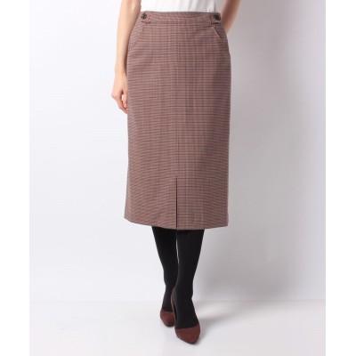 【キャラ・オ・クルス】 チェックのタイトスカート レディース ブラウン系 11 CARA O CRUZ