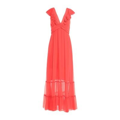 TRAFFIC PEOPLE ロングワンピース&ドレス コーラル S ポリエステル 100% ロングワンピース&ドレス