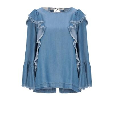 セミクチュール SEMICOUTURE デニムシャツ ブルー 40 指定外繊維(テンセル)® 100% デニムシャツ